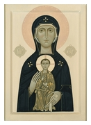 Icon of Our Lady with Christ Child Nikopea (Nicopea), 2017