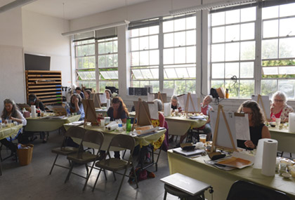Icon writing workshop taught in Gage Academy by Philip and Olga in 2010